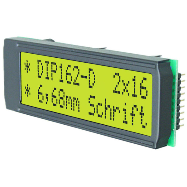 Electronic Assembly LCD-Punktmatrixdisplay EA DIP162-DHNLED 6.68 mm 2x16