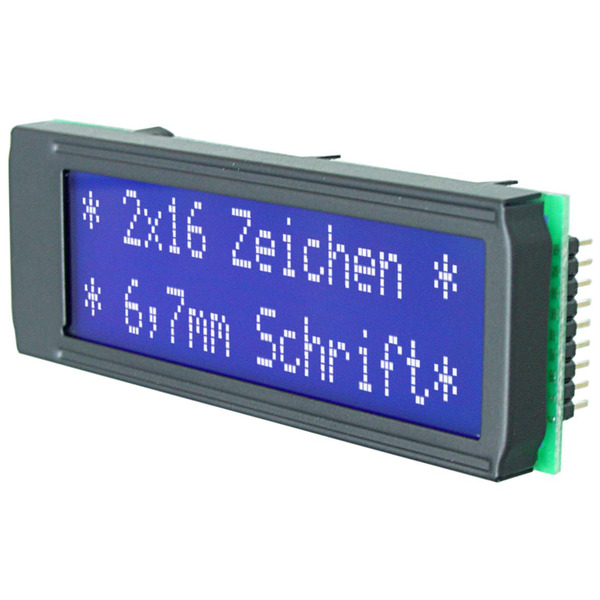 Electronic Assembly LCD-Punktmatrixdisplay EA DIP162-DN3LW 6.68 mm 2x16