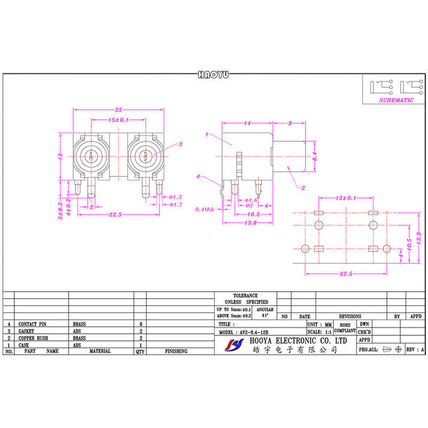 ELV Cinch-Buchse 2-fach, print