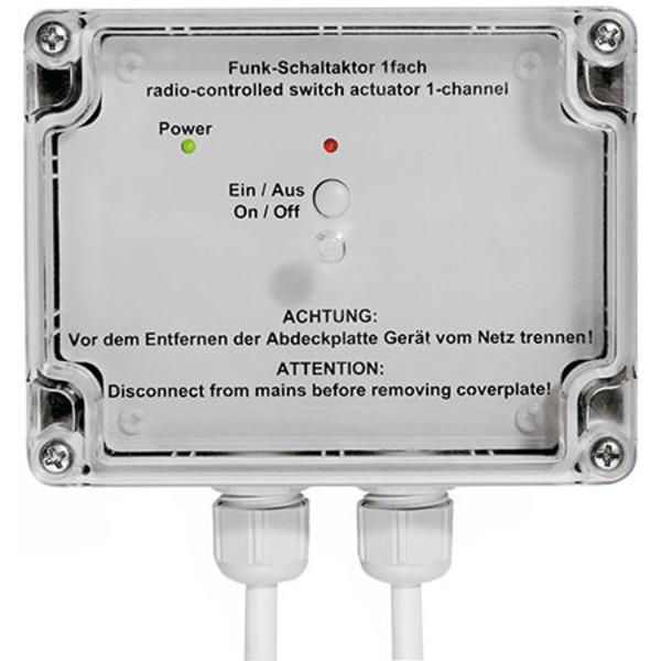Homematic Funk-Schaltaktor 1fach, Aufputzmontage HM-LC-Sw1-SM für Smart Home / Hausautomation