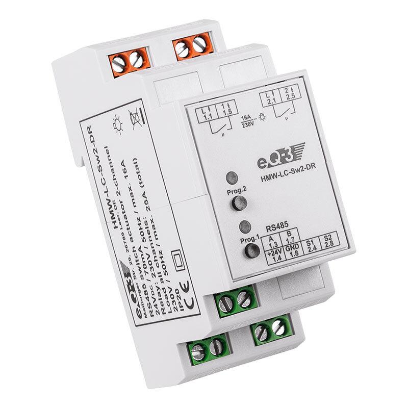 Homematic Wired RS485 Schaltaktor 2-facheQ-3HMW-LC-Sw2-DR