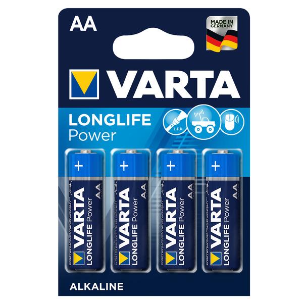 Varta Longlife Power Alkaline Batterie Mignon AA, 4er Pack