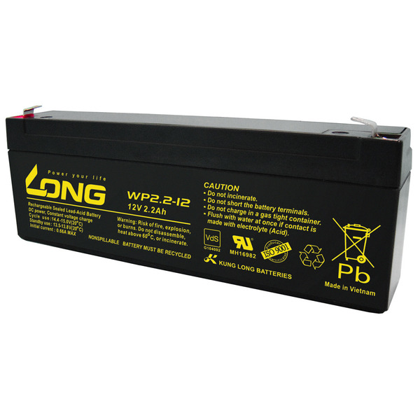 Kung Long VdS-Blei-AGM-Akku WP-2.2-12, 12V, 2,2 Ah