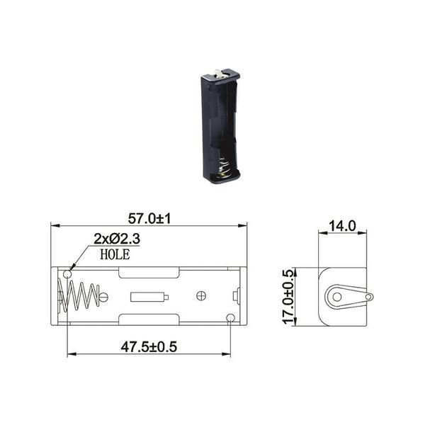 Batteriehalter für 1 x Mignon Batterie mit Lötanschluss