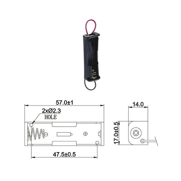 Batteriehalter für 1 x Mignon Batterie mit Anschlusskabel