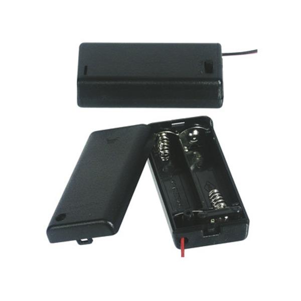 Batteriehalter für 2 x Mignon Batterie mit Anschlusskabel