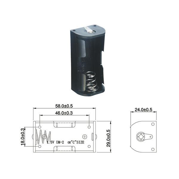 Batteriehalter für 1 x Baby Batterie mit Lötanschluss