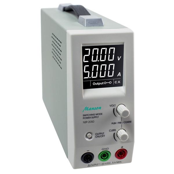 Manson Schaltnetzgerät NSP-2050, 1-20V, 0-5A