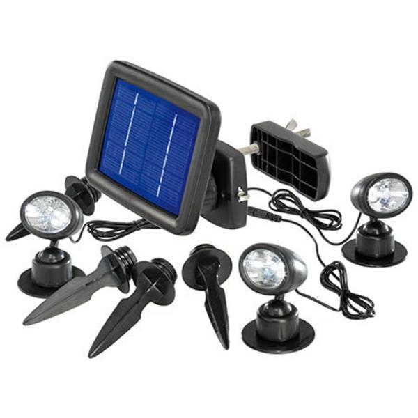 esotec Solar-LED-Beleuchtungs-Set Solarspot Trio, IP44