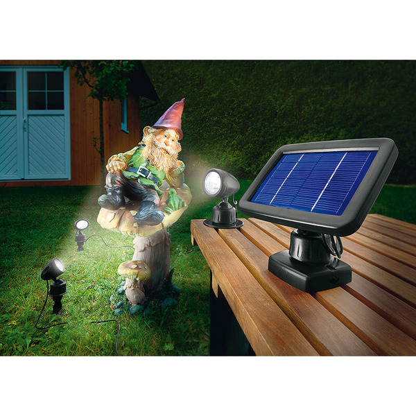 esotec Solar-LED-Beleuchtungs-Set Solarspot Trio, IP44
