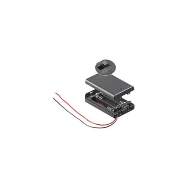 Batteriehalter für 3 x Micro mit Anschlusskabel und An/Aus Schalter