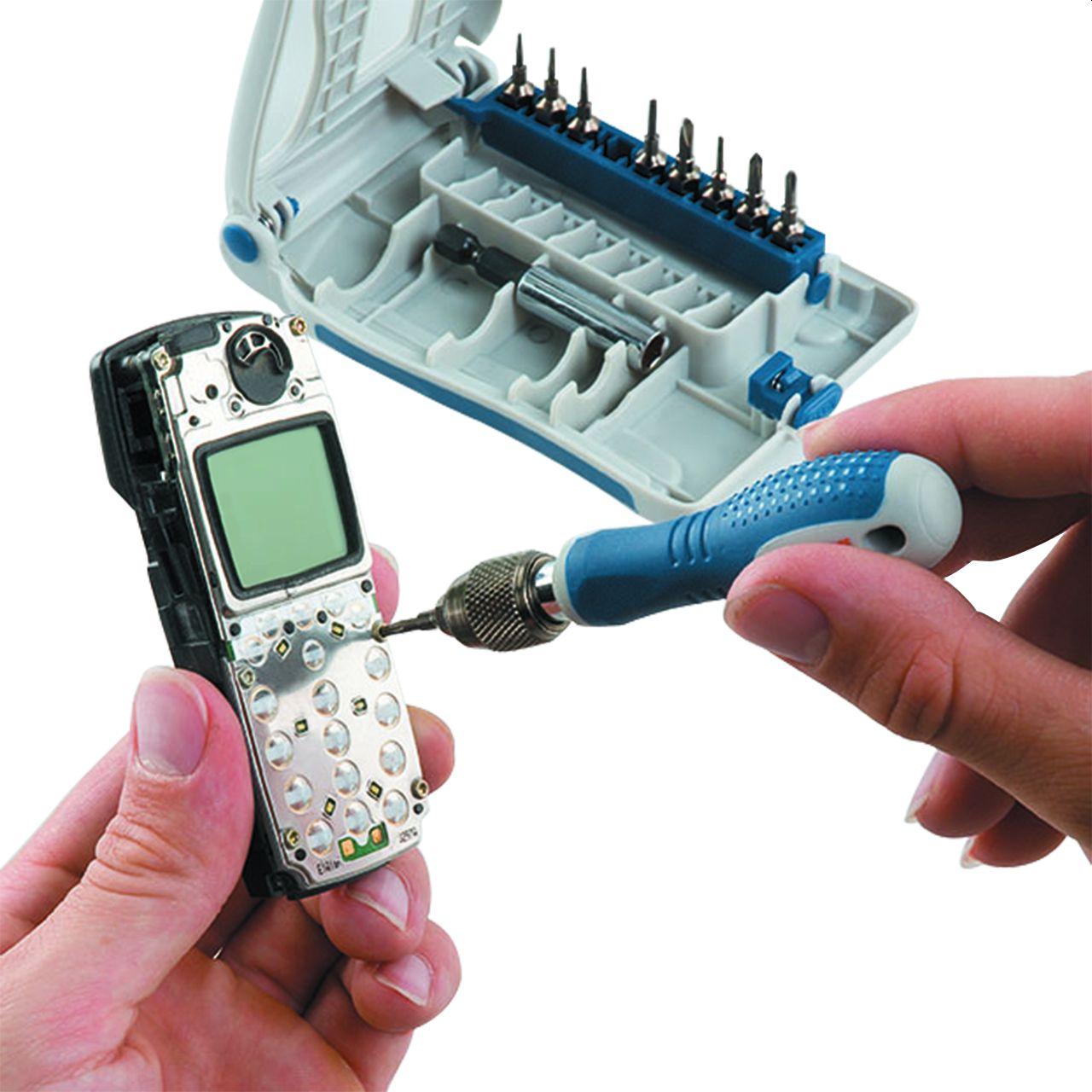 kwb 11 tlg. Präzisions-Mikro-Bit-Satz für elektronische Geräte
