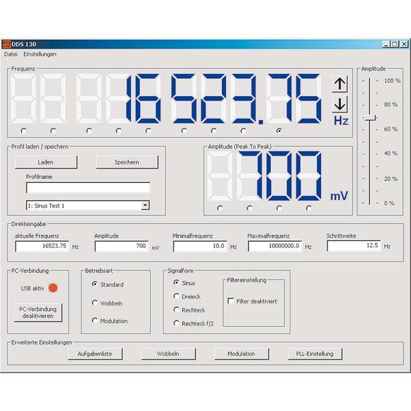ELV Komplettbausatz DDS-Funktionsgenerator DDS 130, 30 MHz