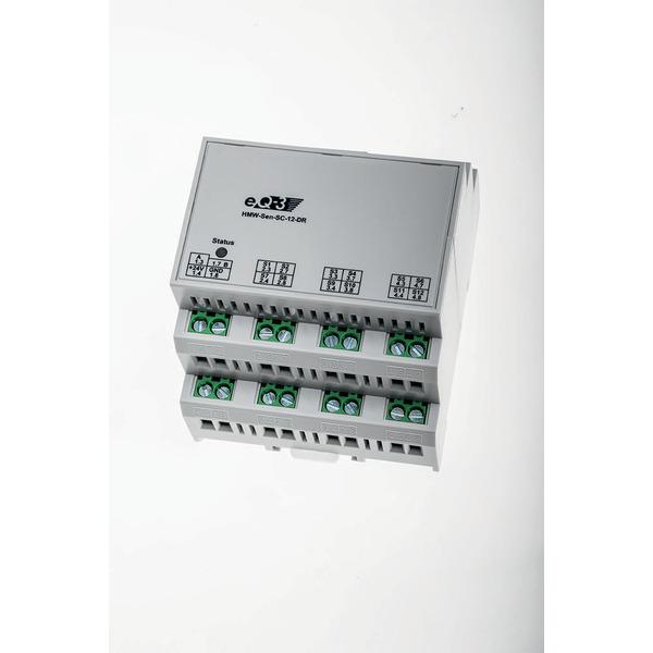 Homematic Wired RS485 Schließerkontakt, 12 Eingänge, Hutschienenmontage HMW-Sen-SC-12-DR