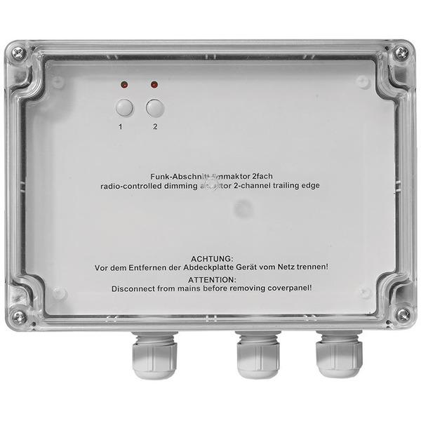 Homematic Funk-Dimmer Phasenabschnitt, Aufputzmontage HM-LC-Dim2T-SM für Smart Home / Hausautomation