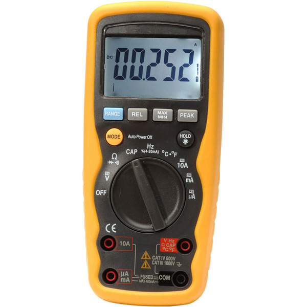 ELV Digital-Multimeter DM9199, TrueRMS, IP67