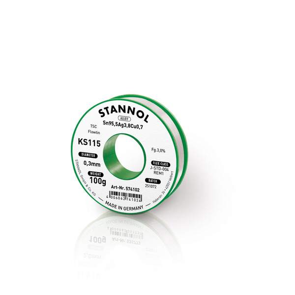 Stannol Flowtin KS 115 TSC Lötzinn  0,3mm, 100g-Spule