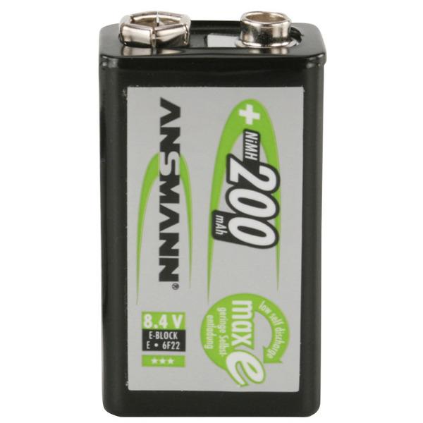Ansmann maxE 9V NiMH-Akku 200 mAh