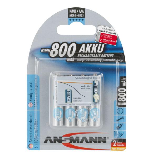 Ansmann maxE NiMH-Akku Micro 800 mAh, 4er Pack