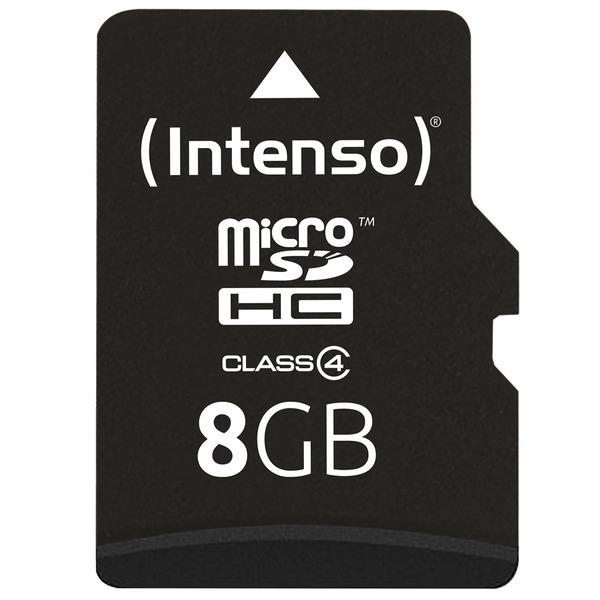 Intenso Speicherkarte microSDHC, Class 4, 21 MB/s, 8 GB
