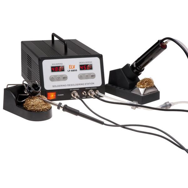 ELV Profi-100-W-Löt-/Entlötstation LF-8800, inkl. Absaugung und Pinzettensatz