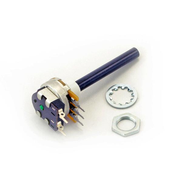OMEG Drehpotentiometer 6mm stehend, linear 10 kOhm mit Schalter