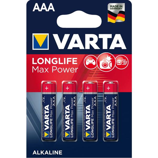 Varta Longlife Power Max, Alkaline Batterie Micro AAA, 4er Pack