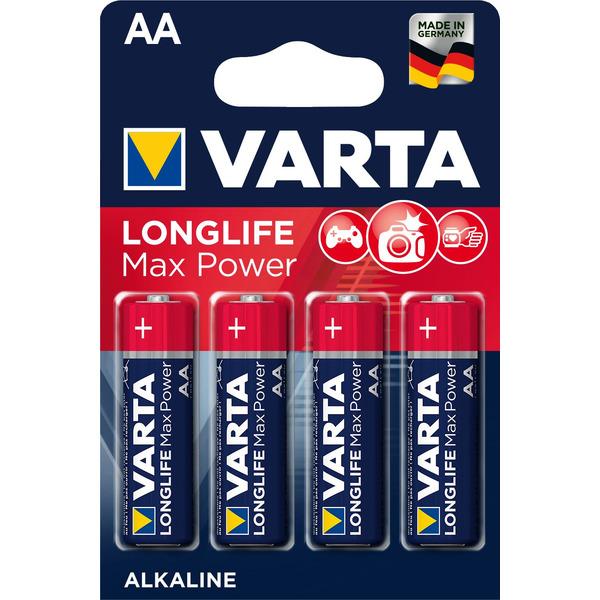 Varta Longlife Power Max, Alkaline Batterie Mignon AA, 4er Pack