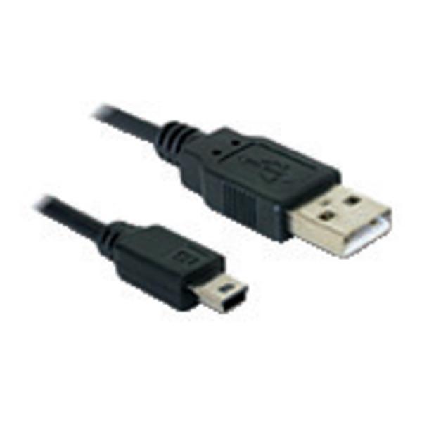 Delock USB-2.0-Verbindungskabel USB-Stecker (Typ A) auf 5-pol. Mini-USB-Stecker (Typ B) 1,5 m