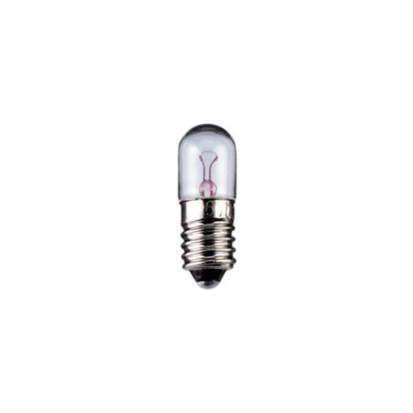 Röhrenlampe Sockel E10, 10 x 28 mm, 6 V