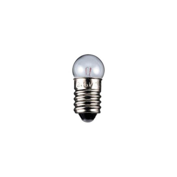 Kugelförmige Lampe Sockel E10, 11,5 x 24 mm, 2,5 V