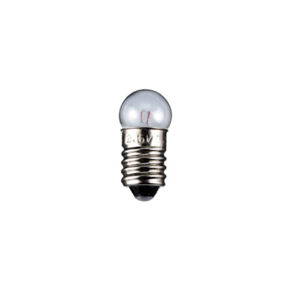 Kugelförmige Lampe Sockel E10, 11,5 x 24 mm, 4,5 V