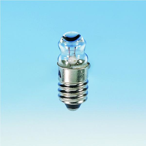 Barthelme Taschenlampen-Leuchtmittel Sockel E10, NF-Breitlinse, 9 x 25 mm, 2,2 V