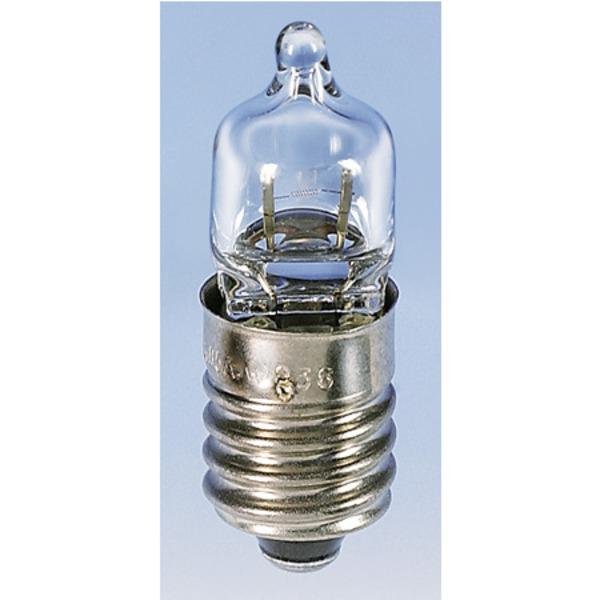 Barthelme Halogen-Glühlampe für Taschenlampen Sockel E10, 9,3 x 31 mm, 5,2 V