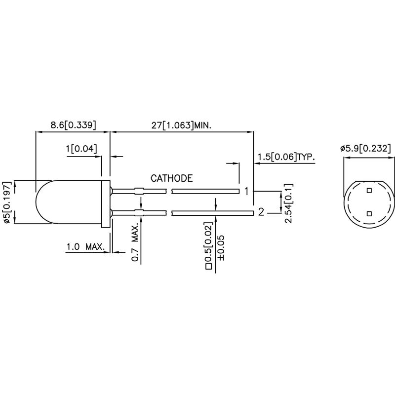 Kingbright Blink-LED L-56BHD, 5mm, rot