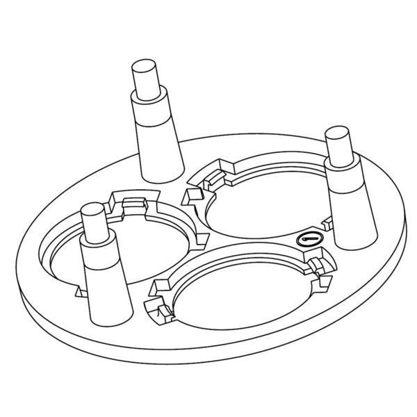 Halter 3-fach für P4-LED-Optiken, schwarz