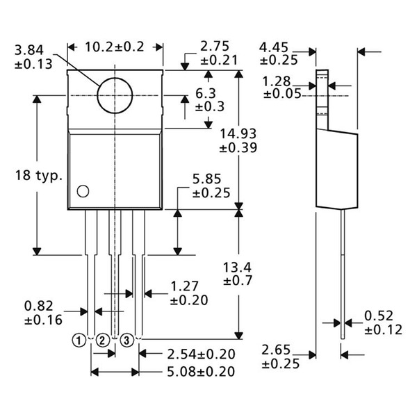 Spannungsregler LM 317 T
