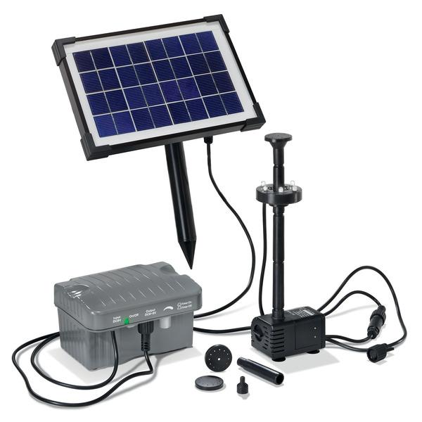 esotec Solar-Teichpumpensystem Palermo, mit Akku und LED-Beleuchtung