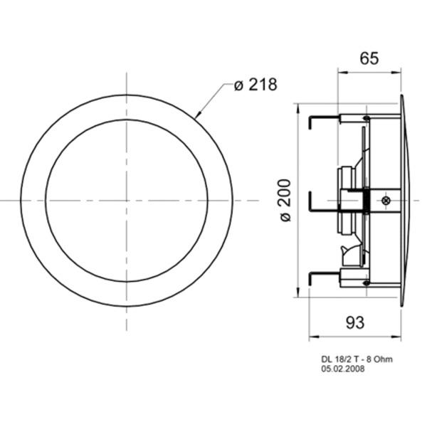 VISATON Hi-Fi-Deckenlautsprecher 20cm, DL 18/2 T / 8 Ohm
