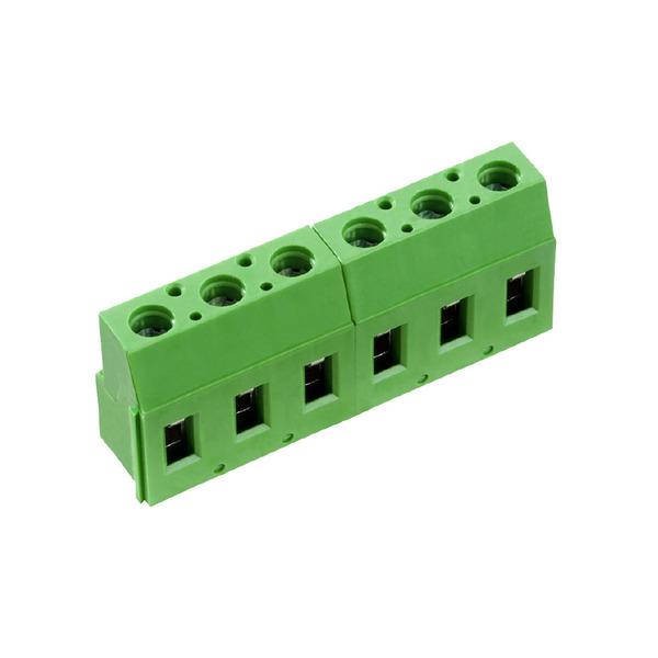 Schraubklemme AK710/3-7.5-V-Grün, Printmontage, 3-polig ohne Beschriftung