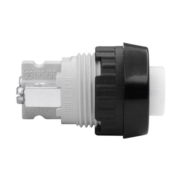 Taster 1-pol 0,7A 250 V AC, schwarz