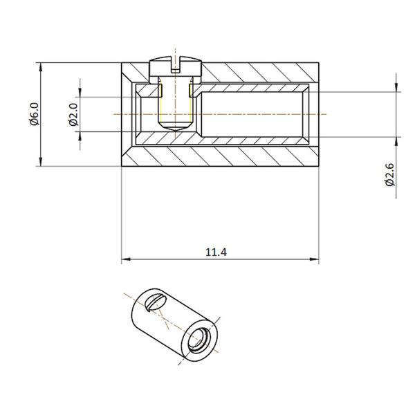 HO-Kupplung 2,6 mm, grün
