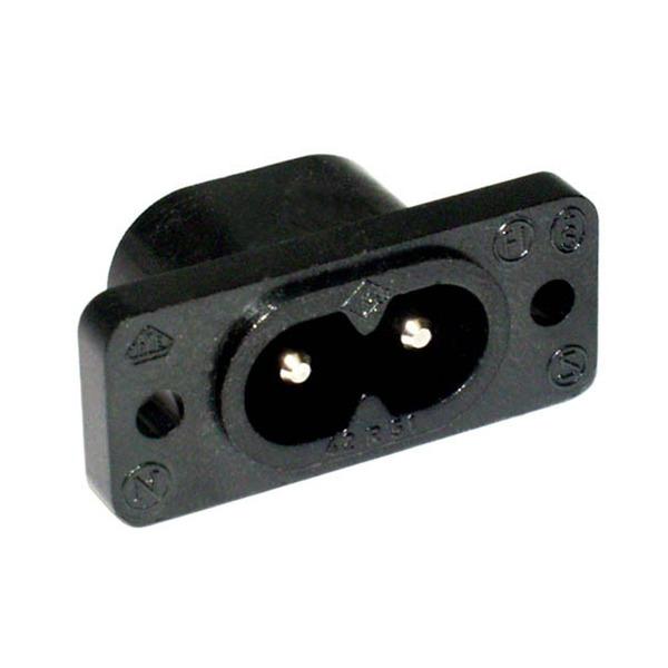 Kleingeräte-Einbaustecker Aufbau 1,0 mm