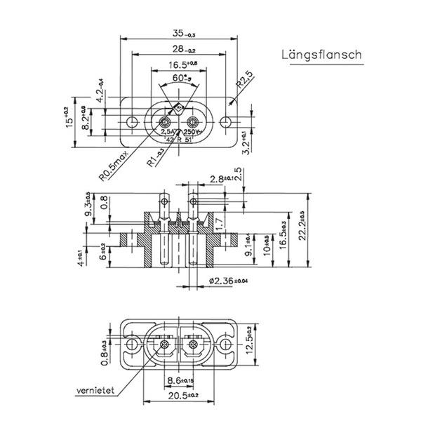 Kleingeräte-Einbau-Stecker