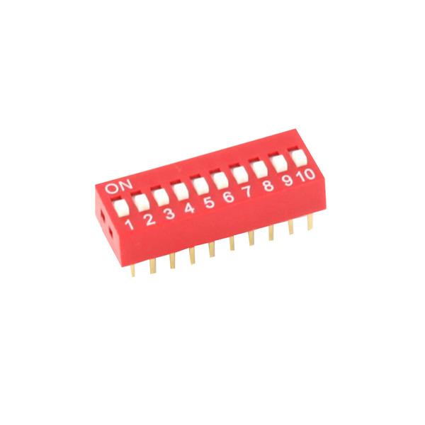 DIP-Schalter RM2,54 12-pol