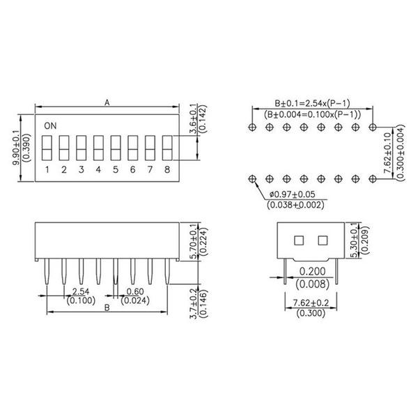 DIP-Schalter RM2,54 10-pol