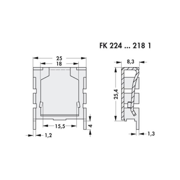 Fischer Elektronik Fingerkühlkörper FK 224 SA 220-1 Clipbefestigung