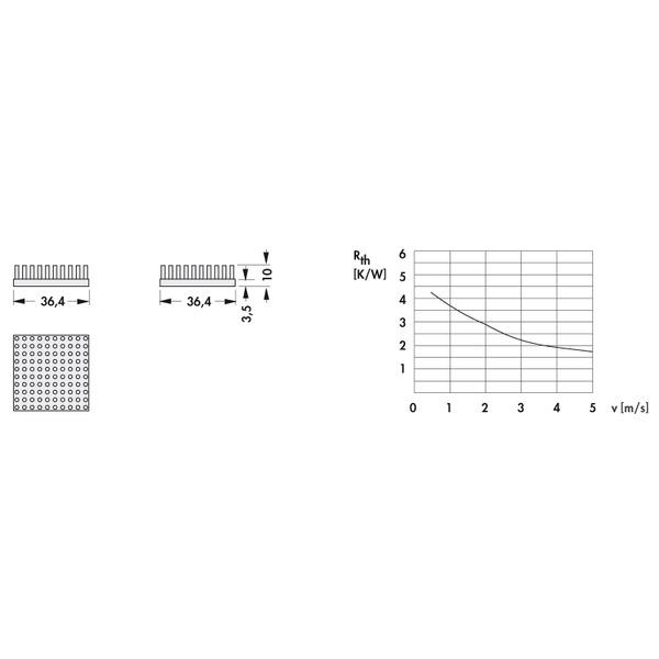 Fischer Elektronik Stiftkühlkörper ICKS 36 x 36 x 10
