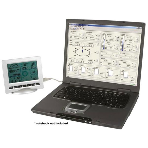 ELV Funk-Wetterstation WS3080, inkl. Kombi-Solar-Außensensor (868 MHz) und PC-Auswertesoftware