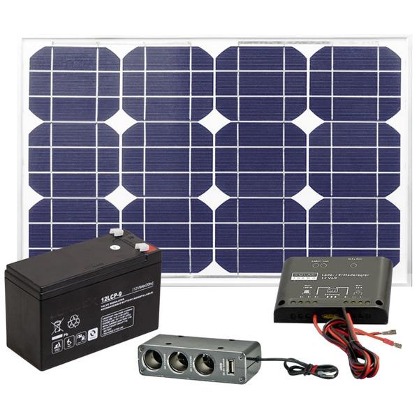 esotec Solarstrom-Set mit Akku, 20 W